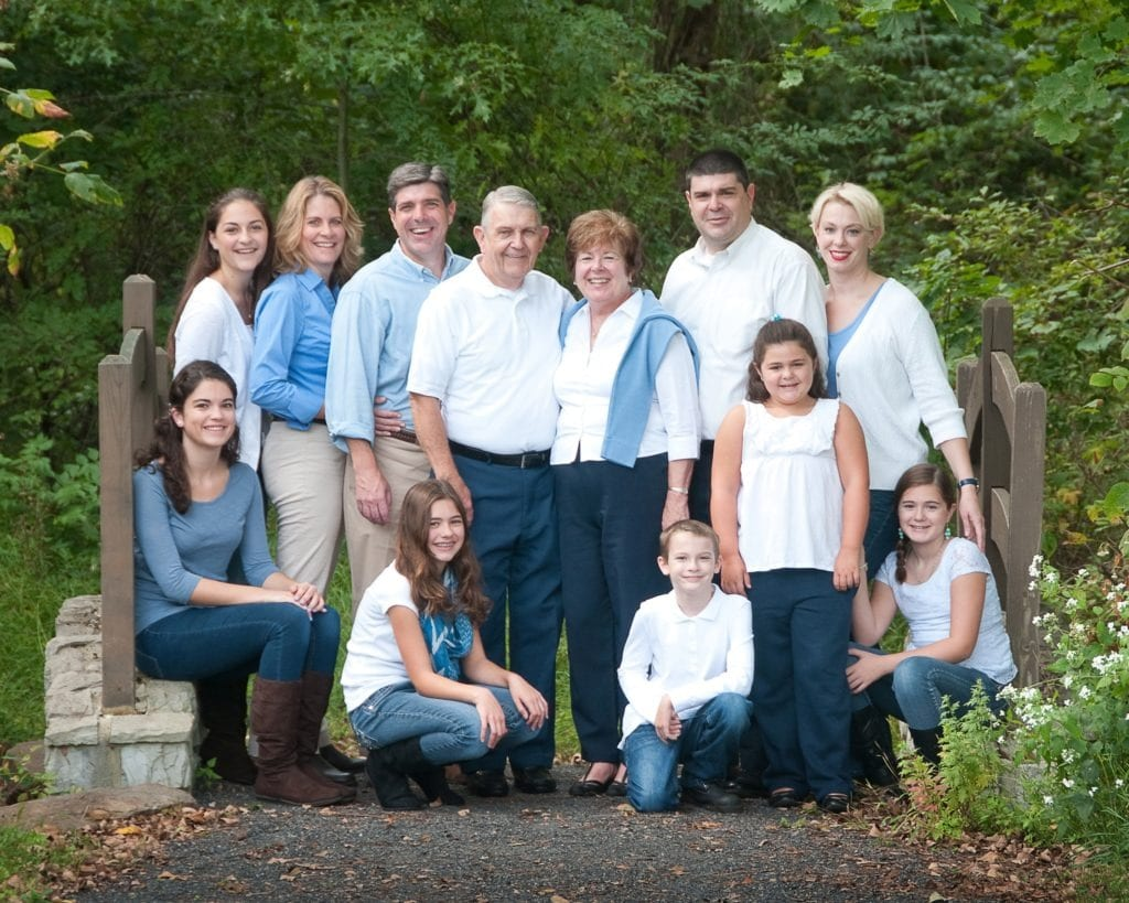 large family group photography