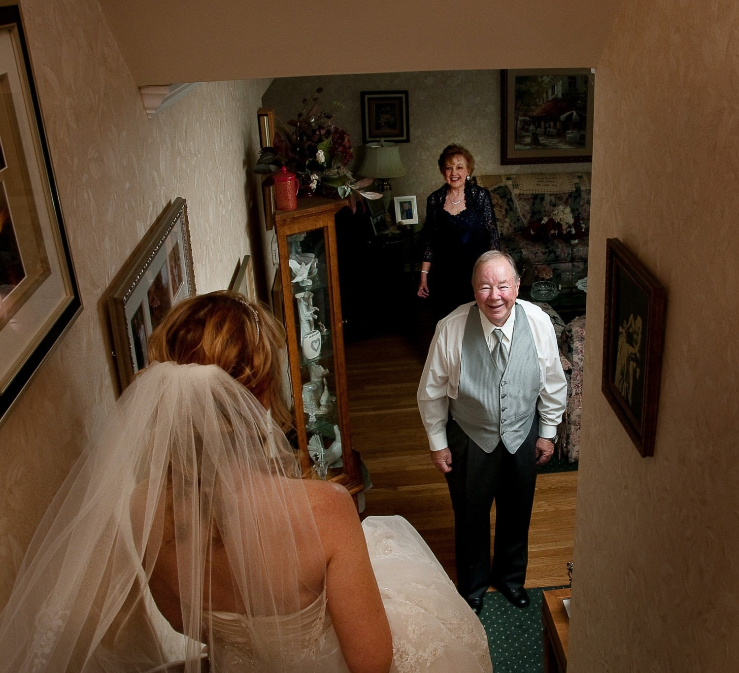 the bride and father