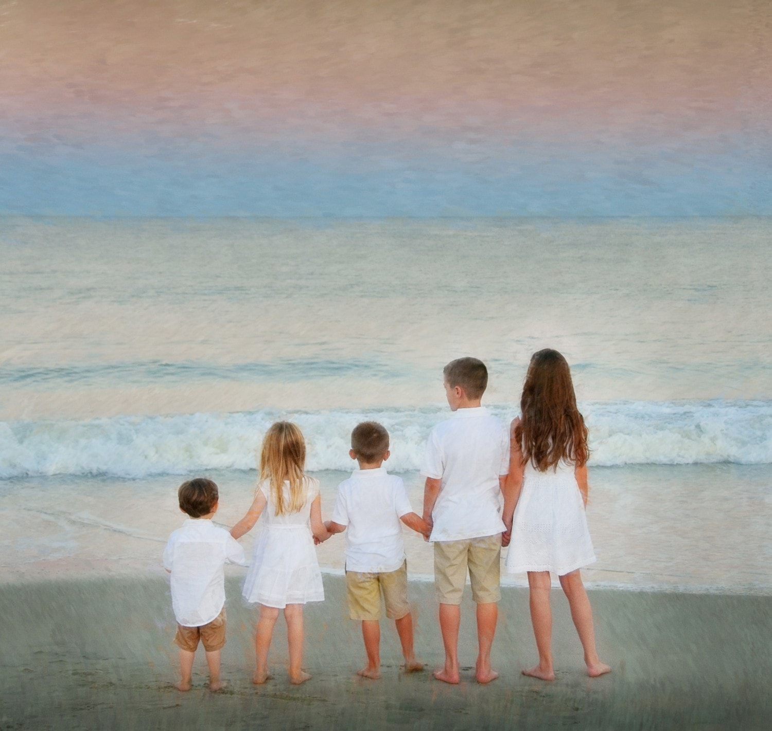 beach family portrait edited