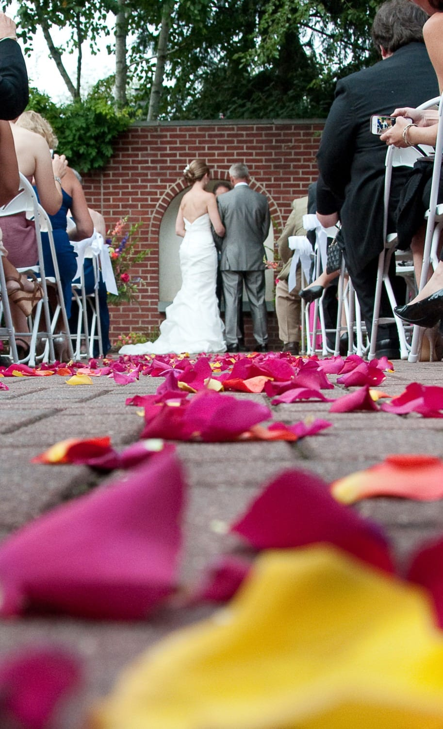 wedding aisle with roses