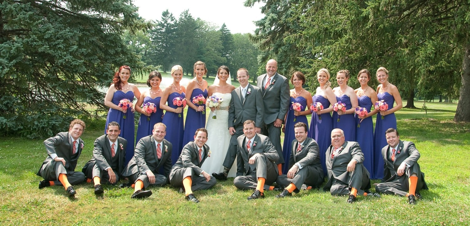 large group wedding photography