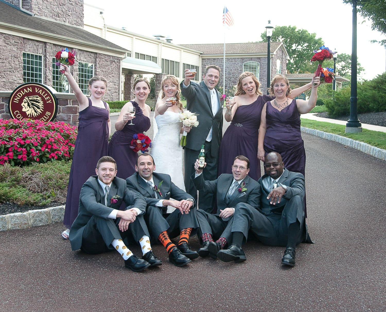 groomsmen with funny socks