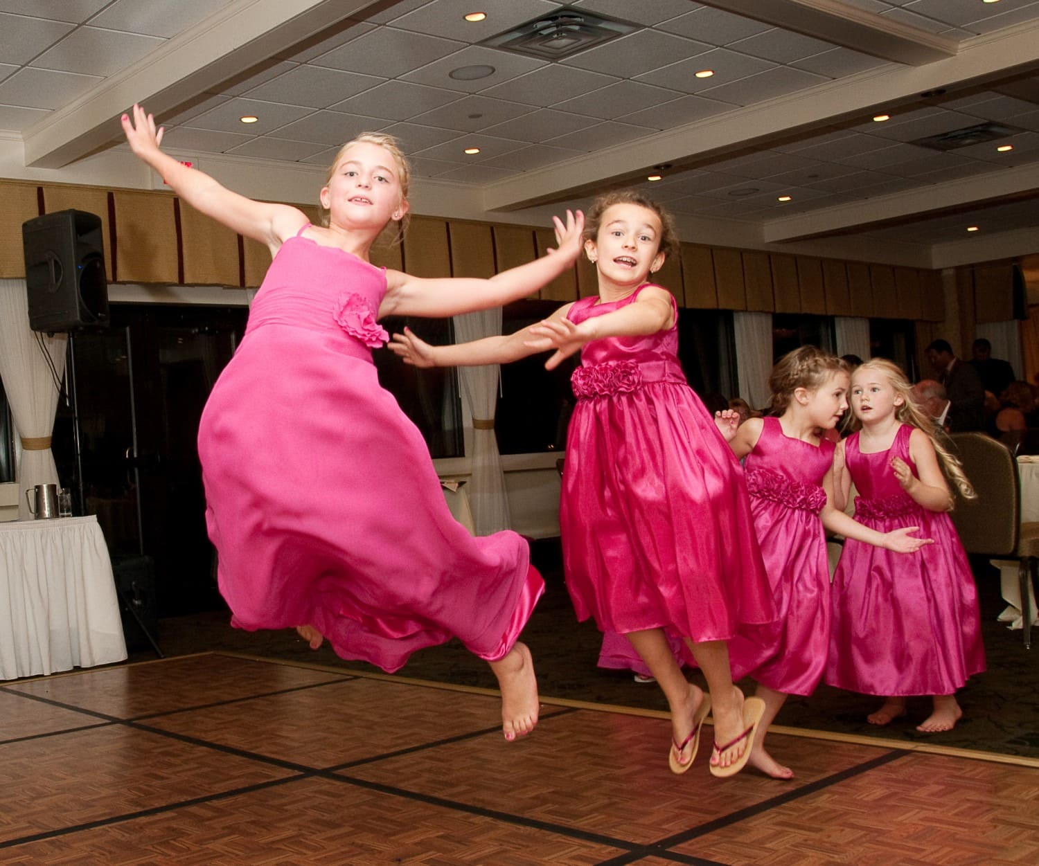 girls dancing on the dance floor