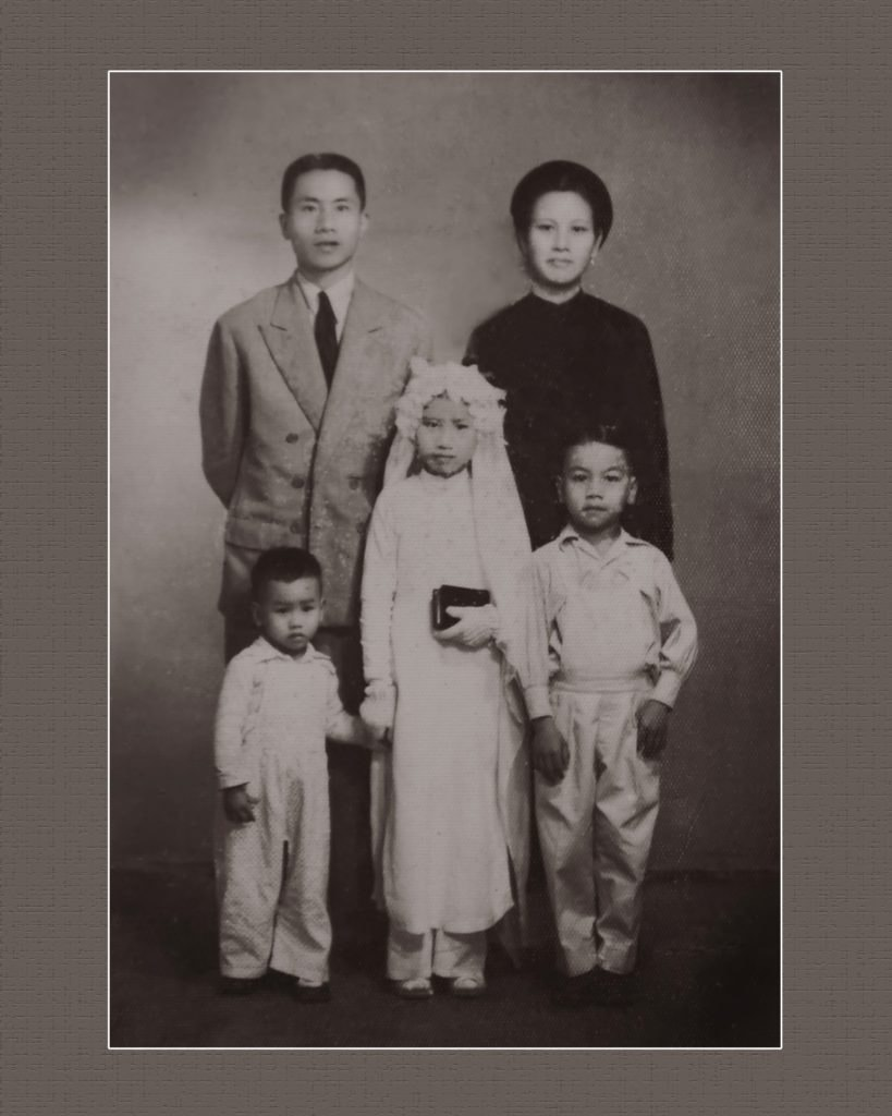 asian american family photo restoration
