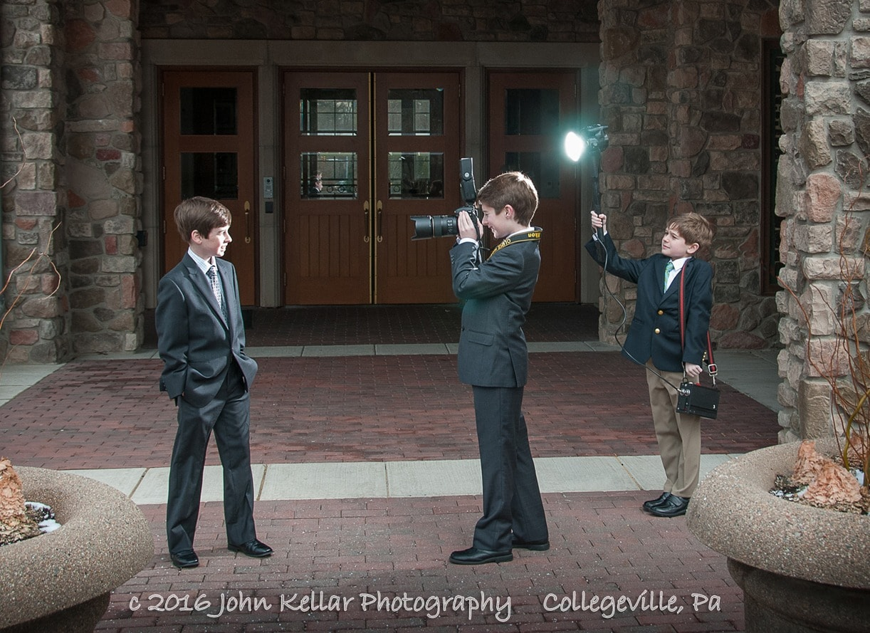 group of boys bar mitzvah photography
