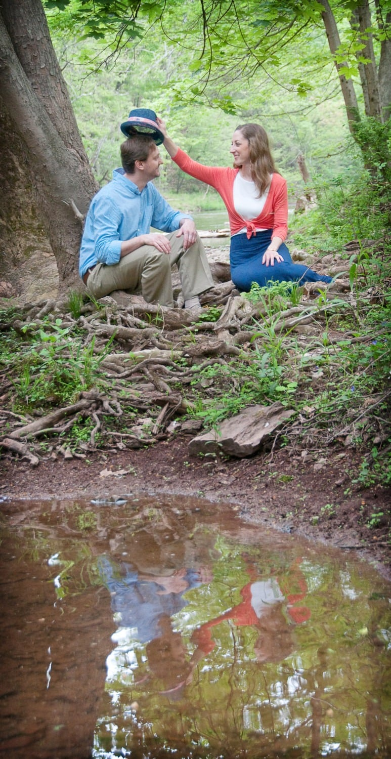 engagement photograph goofy