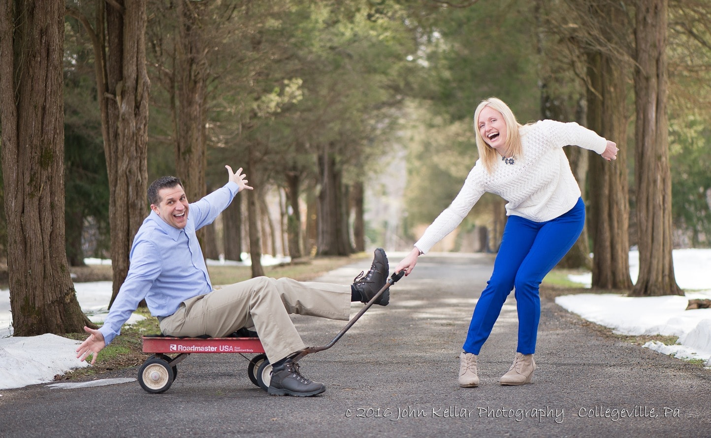 silly engagement photography