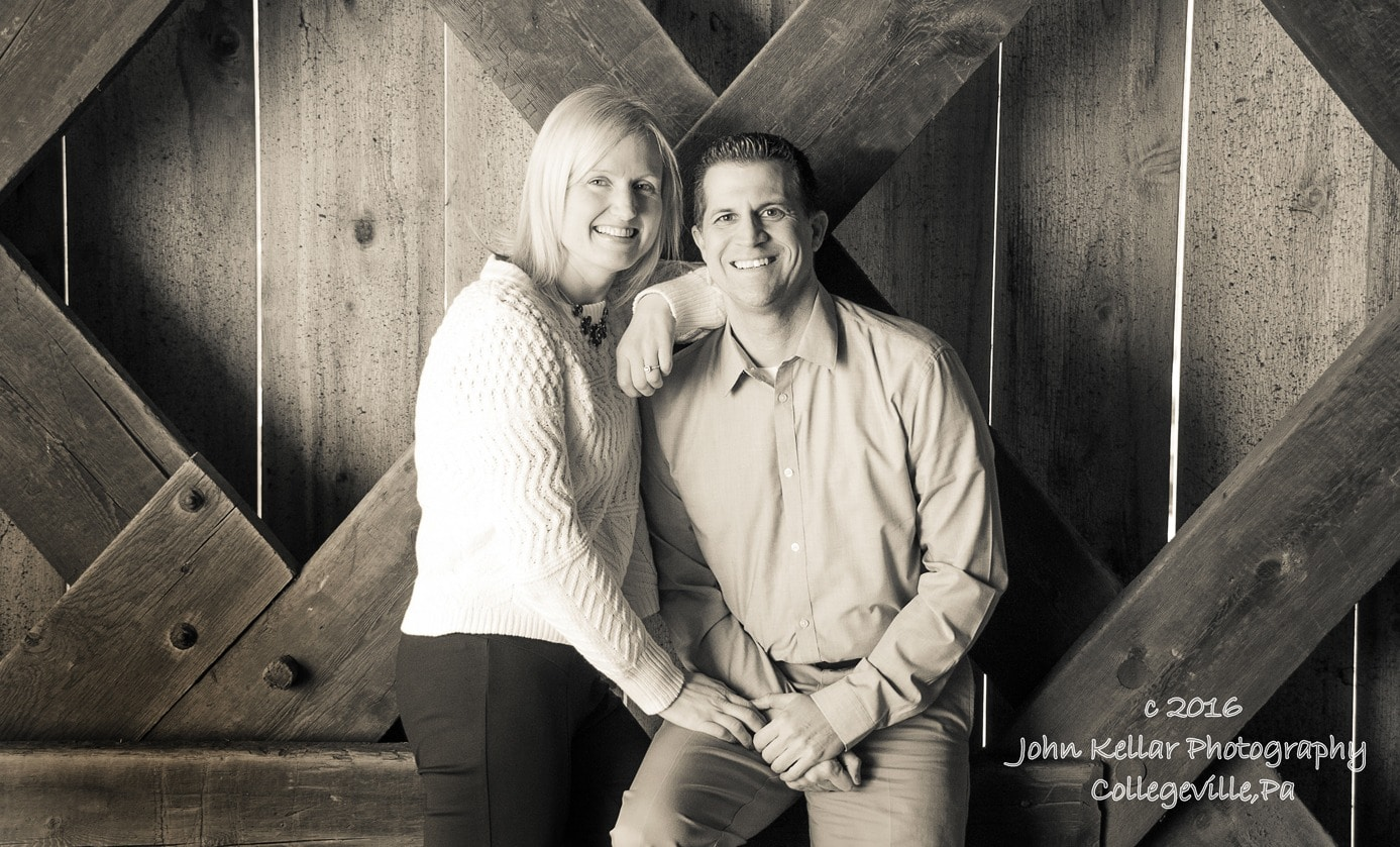 sepia man and wife engagement photography