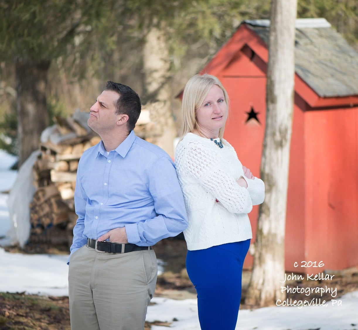 funny engagement photography