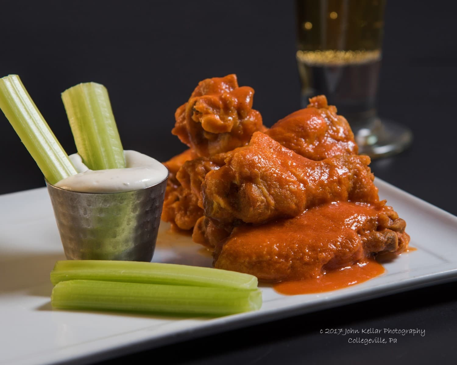 chicken wing food photography