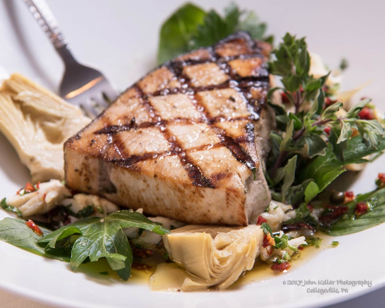 Chicken entree food photography