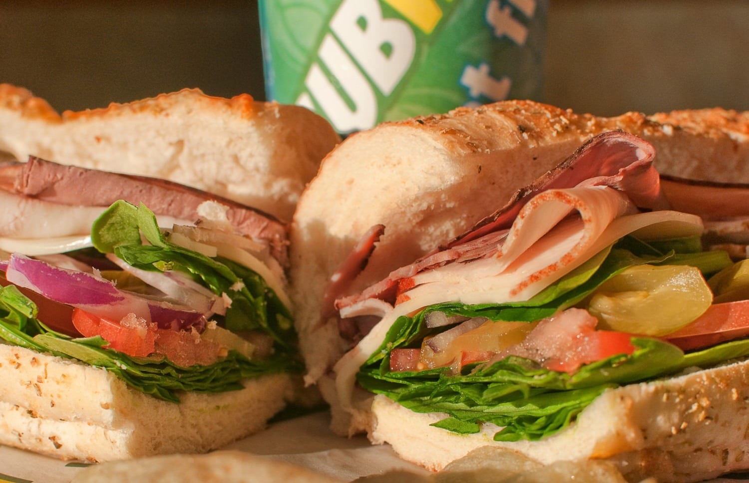 Subway sandwich food photography